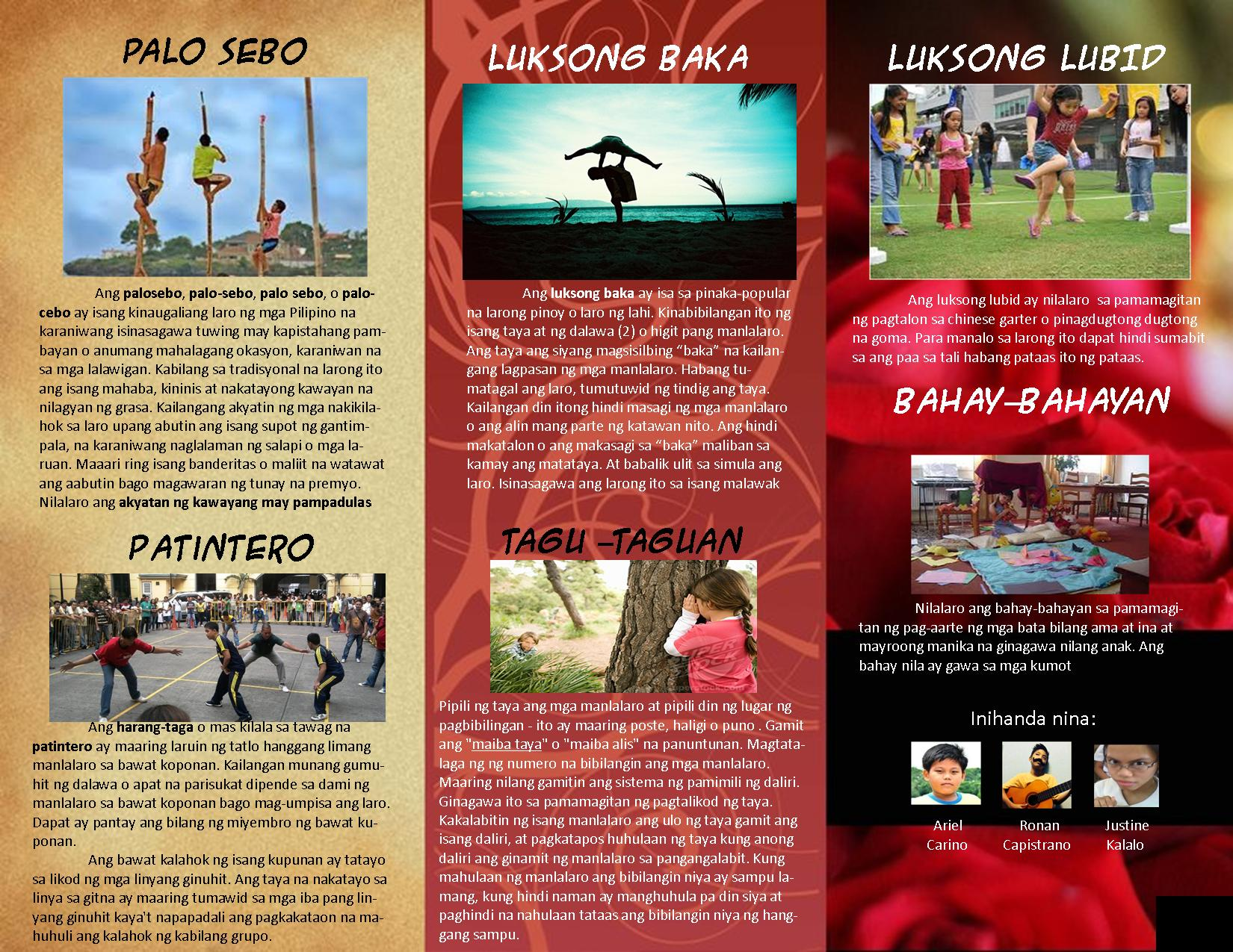 Tourist Attraction In Tagalog   Traveling morion let s explore     View Images Brochure