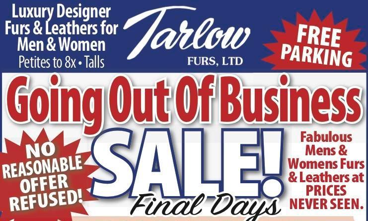 Tarlow Furs Sale