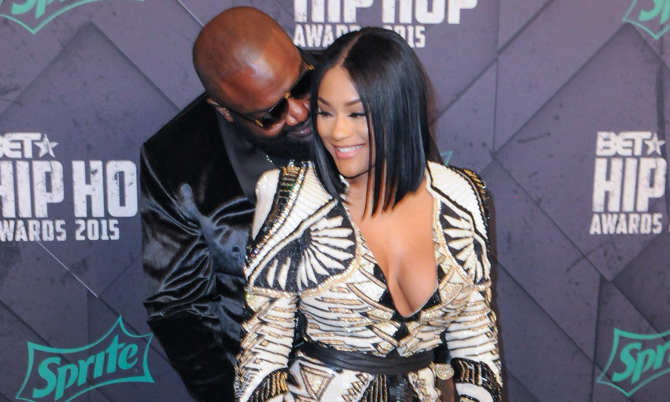 Rick Ross and fiance Lira Mercer at the 2015 BET Hip-Hop Awards