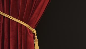 Close up of curtain and tieback