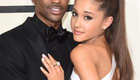 Ariana Grande and Big Sean attend The 57th Annual GRAMMY Awards