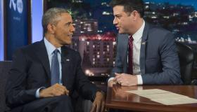 President Barack Obama and Jimmy Kimmel