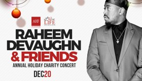 Raheem DeVaughn & Friends Holiday Concert Flyer