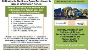 2016 Atlanta Medicare Open Enrollment And Senior Information Forum