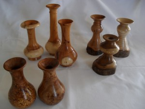selection of bud vases