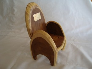 miniature chair for Eisteddfod handmade from Laburnum