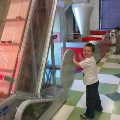 Our Handsome Grandson Making Doughnuts