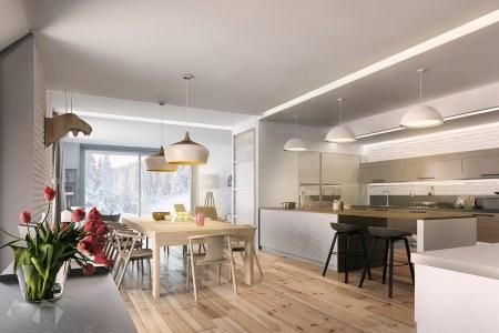 light wood and brick nordic interior