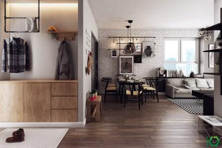 smart nordic entryway design