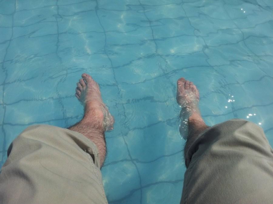 Füße rein und entspannen