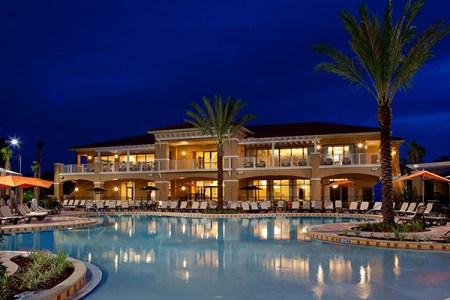 fantasy world resort pool night