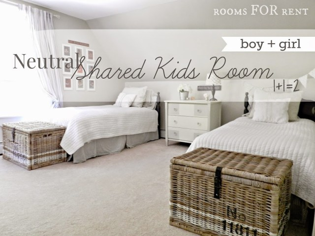 neutral shared kids room reveal rooms for rent blog. Black Bedroom Furniture Sets. Home Design Ideas