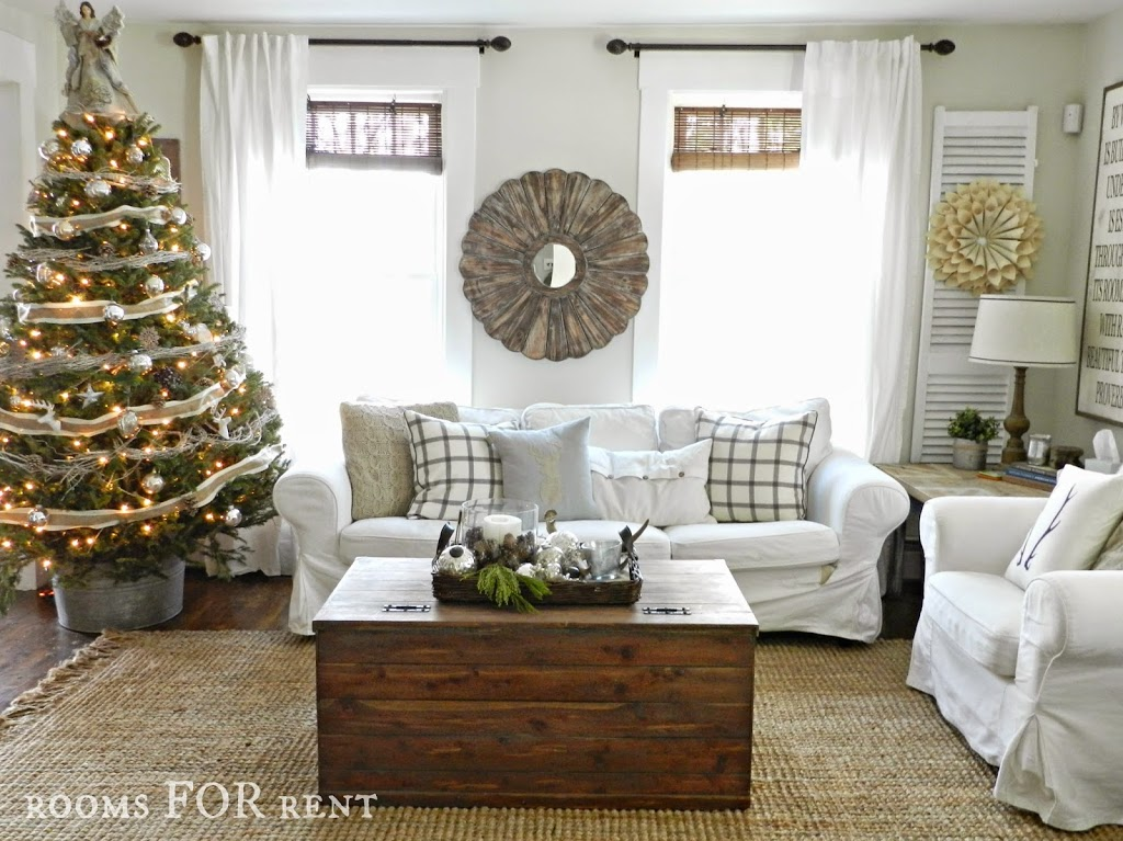 Woodland glam christmas tree rooms for rent blog for Deco de noel interieur