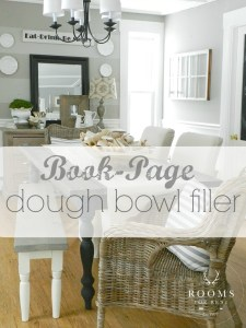 Book-Page Dough Bowl Filler