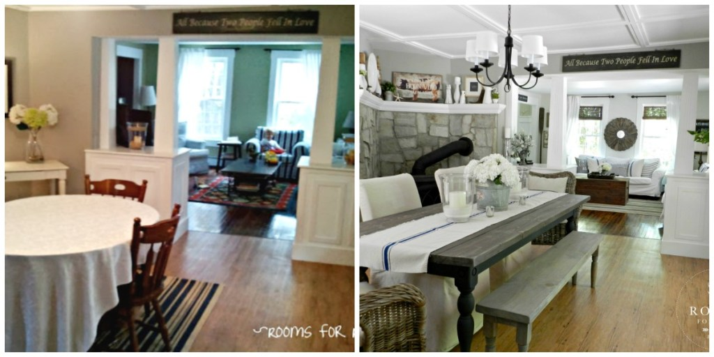 Before & After Dining Room | Rooms FOR Rent Blog