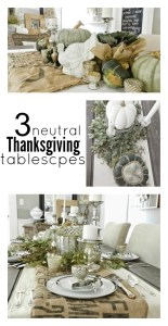 Neutral Thanksgiving Centerpieces