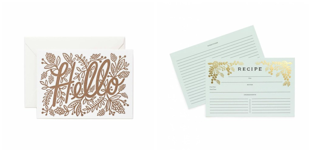 Gold Foil Cards | Mothers Day Gift Ideas