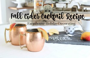 Fall Cider Cocktail Recipe