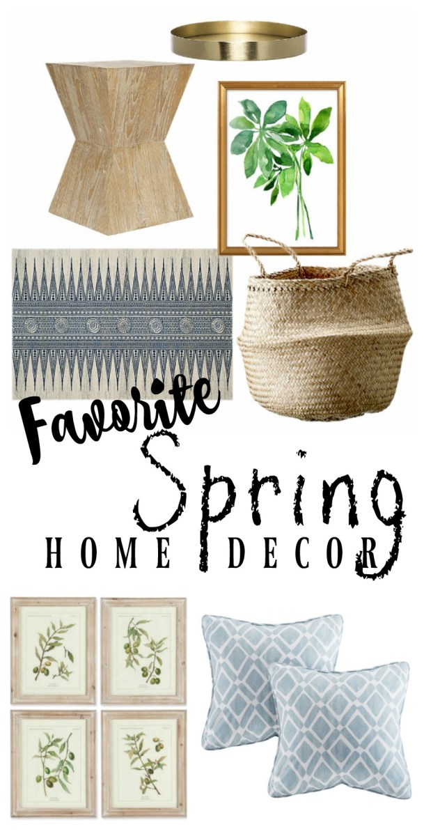 Favorite Spring Home Decor