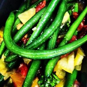Green Beans with Tomato Vinaigrette