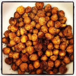 Roasted Garlicky Chickpeas