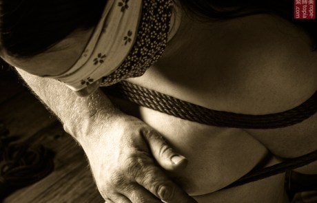 No resistance. Blindfolded, gagged and bound.