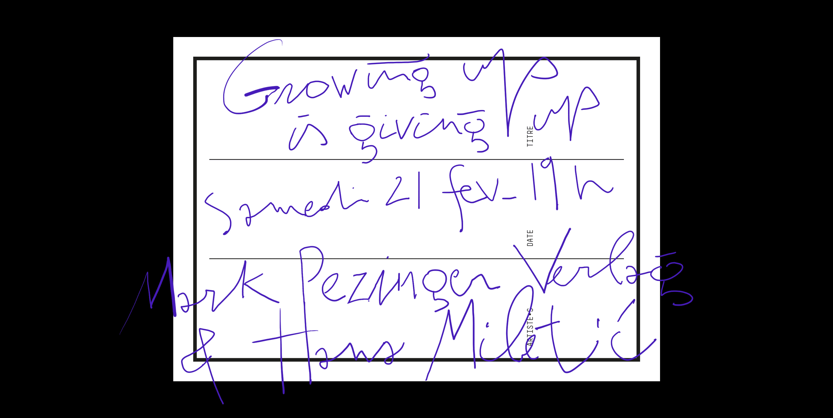 flyer_rosabrux_mark_pezinger_GROWING_UP_IS_GIVING_UP_HANA_MILETIC_flyer_clovis_duran_retina_2015