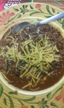 bowl of beef chili