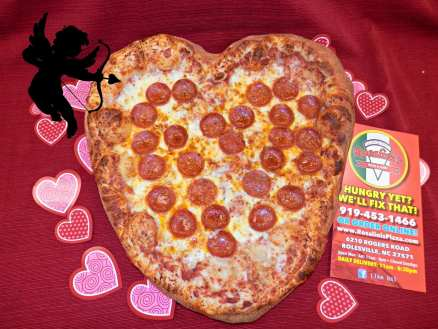 rosalinis heart pizza