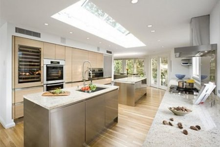 galley kitchen double island ideas