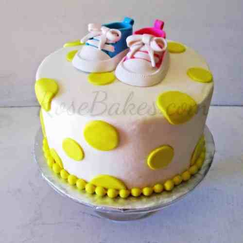 Groovy Baby Converse Shoes Baby Shower Cake Behance Baby Shower Cake Ideas Gender Neutral Baby Shower Cake Ideas Without Fondant