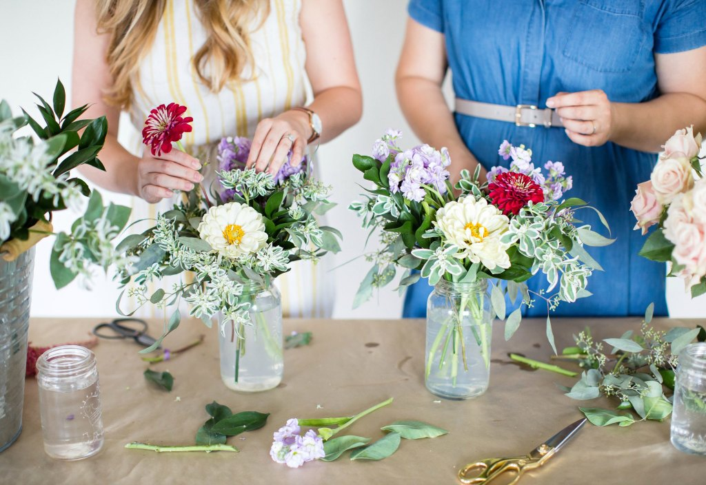 How to create a simple floral arrangement with the bourbon