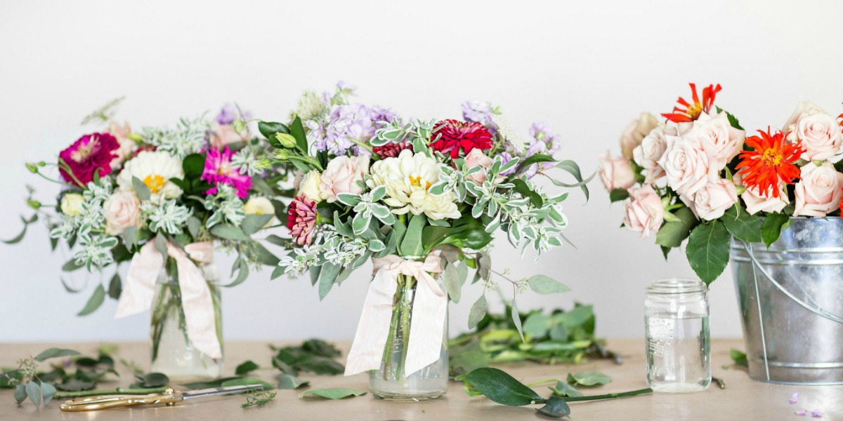 How to Create A Simple Floral Arrangement with The Bourbon Rose Floral Design Co.
