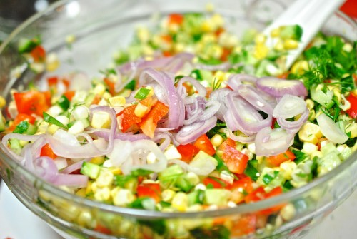 Sweet Corn Salad with Buttermilk Dressing «