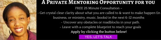 A Private Mentoring Opportunity for you