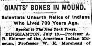 giant human skeleton uncovered in New York