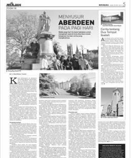 Artikel perjalanan. Koran Republika