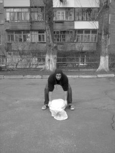 Sandbag Shoulder Squat