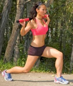 Lipstick and lunges. Shape magazine how to perform a basic lunge.