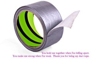 Coping with divorce? Duct tape.