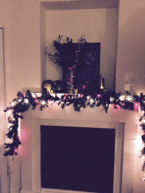 mantel wreath single parenting holidays