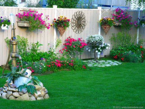 Medium Of Backyard Garden Decor