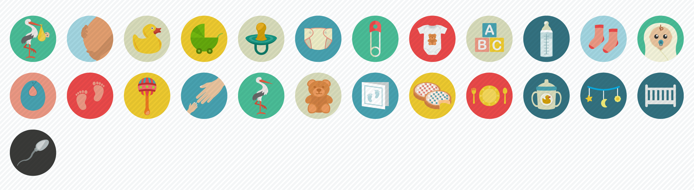 Pregnancy_Babycare_Flat_Icons