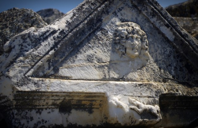 Hierapolis - a Medusa figure on the main city gate which made for protecting from Medusa