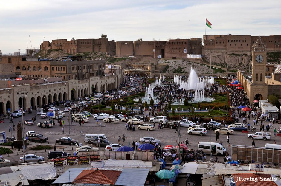 Erbil citadel from the shopping mall