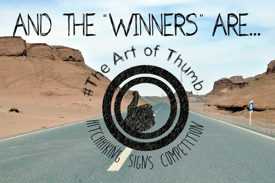 Hitchhiking Signs Competition Winners
