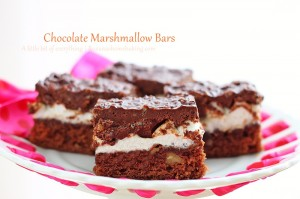 Chocolate Marshmallow Bars | roxanashomebaking.com