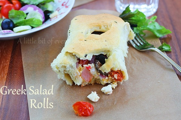 Greek salad rolls