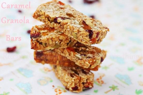 caramel granola bars | Roxanashomebaking.com