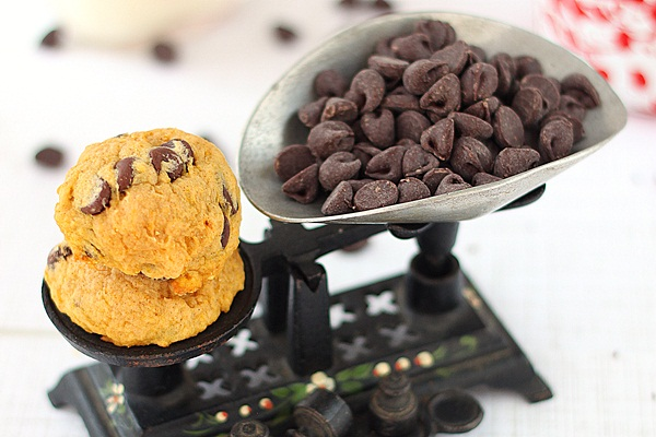 Chocolate Chip Pumpkin Muffin-top Cookies
